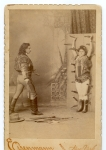 Sid Arcaris & Sister ...knife throwing act   late 1800's.jpg