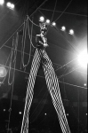 Barrie Yelding Sloan, one of the greatest stilt walkers of all time.    1960's