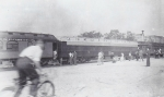 A 'mixed consist' of coaches on the Johnny. J. Jones. train...1930's.