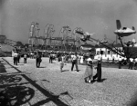 1940's West End on the Royal American Shows Known For 4 Ferris Wheels Lined Up Side By Side