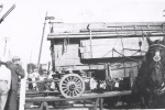 101 Wild West Shows Baggage Wagon Coming Off The Runs 1930's