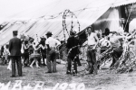 1930...Ringling  Brothers Barnum ans Bailey 'spec' Getting Ready For Opening
