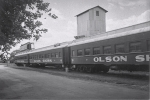 Olson coaches along a siding..1960.JPG