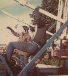My wife Linda and I set up the brand new trailer mounted Wheel on Carnival Time Shows...1970's.jpg