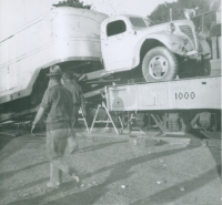 Truck on the runs..Worlds Finest Shows..1950's.JPG