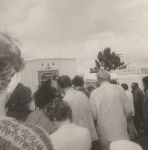 Al Sullivan holds Church Call on the office steps in Klamath Falls 1970.jpg