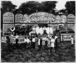 Revue Show on Milville Rides. Al Murcy was in the band, Nat Mercy was the Comic, Virginia Mercy was a dancer.jpg