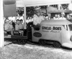'Uncle Bob's' Streamliner Kiddie Train.  1952
