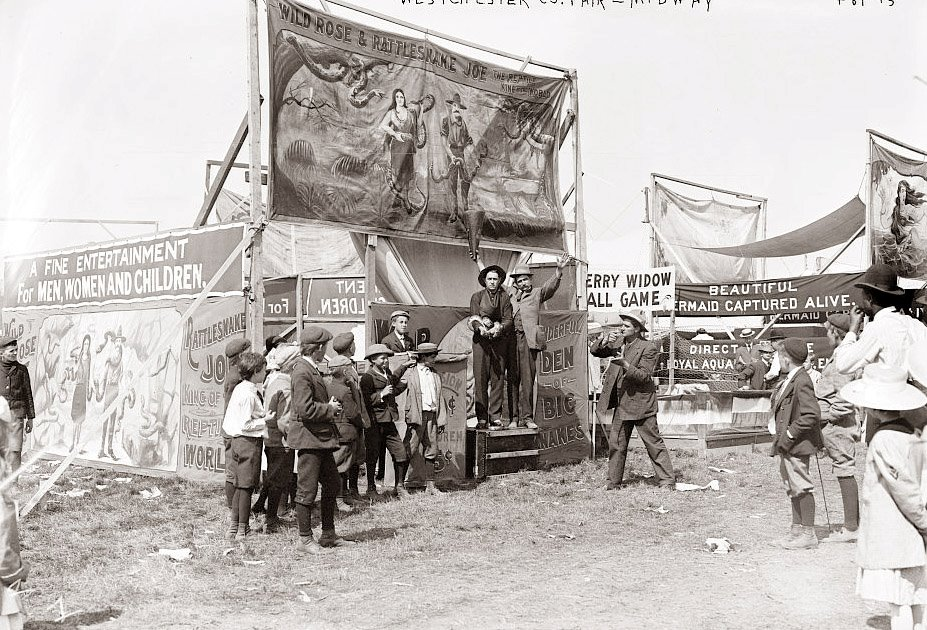 Early 1800 S Midway Carnival And Circus History