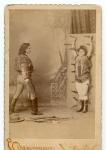 Sid Arcaris & Sister ...knife throwing act   late 1800's.jpg