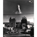 In 1953, the celebrated high wire artist Josephine Berosini performed a high bicycle ride across Vine St. in Hollwood..jpg
