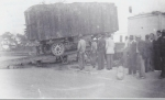 A Johnny  J. Jones wagon comes down the runs on set up day.....1930's.jpg