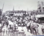 The new century begins with a  parade.1900