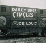 Daily Bros Circus wagon featuring the 'Great Joe Louis'.JPG