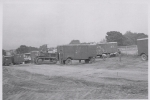 'Spotting' the wagons on the lot. Cetlin Wilson Shows..1952.