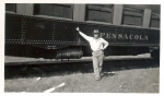 Hennis Bro.s Shows 1930's car Pensacola. Unidentified person..jpg