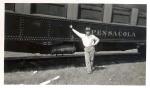 Hennis Bro.s Shows 1930's car Pensacola. Unidentified person..jpg