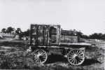 1920's Rare Photo of Retired Al G Barnes-Sells Floto Circus Wagons.