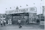 Ape Show on the Strates midway..1960's.JPG