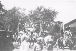 Cowboys in the street parade.  101 Wild West Shows...1920's.JPG