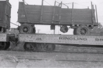 Ringling wagon on the flats..1940.JPG