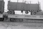Ringling wagon on the flats..1940.JPG