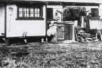 wagon carvings in winter quarters..R B B B..1930's.JPG