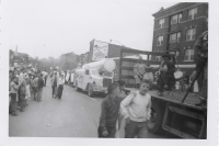 Zachinni Canon in the King Bros. Christiani Circus parade in Pittsfield Mass. 1950's.JPG