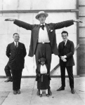 Giant and midget lady..1940's