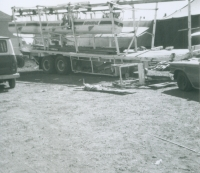 Wrecked 'Monorail' on the West Coast Shows...1960's.JPG