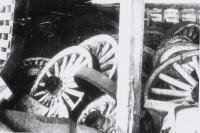 Wheels in the barn...1930's.JPG