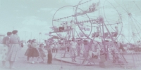 Unusual Kiddie Ferris wheel ( unknown midway)...1950's.JPG