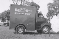 Unusual truck on the Ringling Show..1954.JPG