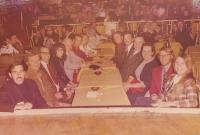 Vegas Trade show 1973. from l to r. Doc Rivera. unknown. unknown. Jack Waller. Scotty Jernigan. Debbie Jernigan...Suzy BrownLehman , Charlie Brown Lehman, Loena Stevens, Barney Stevens, unknown, unknown.jpg