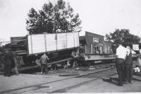 Unloading the Rubin & Cherry Shows wagons...1930's.JPG