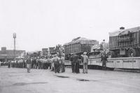 'Townies' waiting for work..R B B B 1950