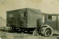 The house trailer, also known as a caravan, was built by JE Henry and his sons. It is believed to be the first house trailer ever built..jpg