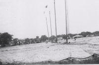 The big top going up on the Clyde Beatty Circus...1949.JPG