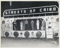 Streets of Cairo Norman Parther calls in the tip for the girl show. The third girl in from the left is.jpg