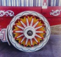 'Star Burst' circus wagon wheel.JPG