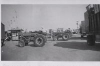 Spotting the wagons on the Clyde Beatty lot...1949.JPG