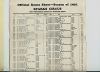 Sparks Circus Route sheet....1931.JPG