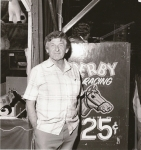 Ray Leefe and his Derby in California.JPG