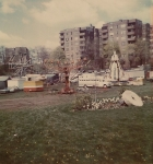 Rocky Dell's Great American Shows in Hartford. The red and yellow trailer is the Nail Store that I worked..jpg