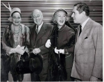 1951 Dorothy Lamour, Cecil B. DeMille, Betty Hutton and John Ringling North boarding that legendary luxury train, the Super Chief..