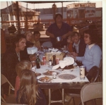 Thanksgiving dinner on a lot in the middle of East L.A. California. 1970's.jpg