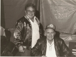 Wolfe Pederson(R) and Angelo Giambria (L)( Wolf was anElectrician on the West Coast shows ..JPG
