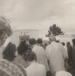 Al Sullivan holds Church Call on the office steps in Klamath Falls 1970.jpg