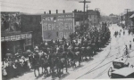 40 Horse Hitch in a street parade.1903