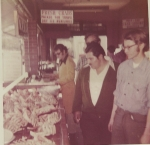 Charlie Brown, Johnny Lopez jr. and Fred Neece in the back at Fishermans Wharf in S.F. 1970.jpg